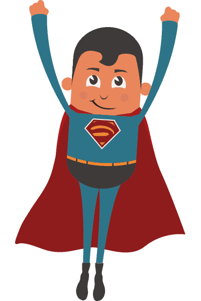 Superman cartoon